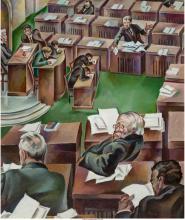 Peppino Mangravite (American, 1896-1978) The Senate in Session, circa 1926 Oil o