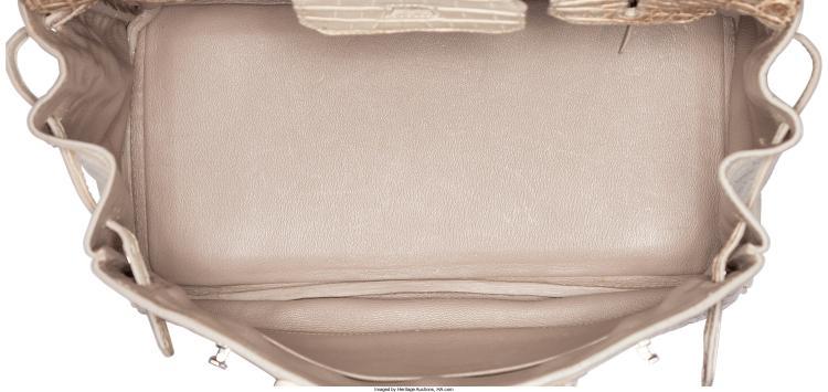 Lot 58086  Hermes 30cm Matte White Himalayan Nilo Crocodile Birkin Bag with  Palladium Hardw b0bb58ab36