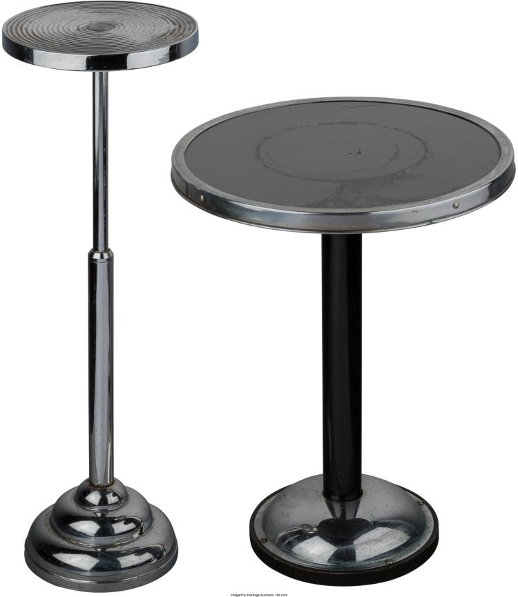 Two Chromed Plant Stands 20th Century 28 3 8 Inches High 7