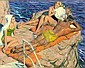 TOM LOVELL (American, 1909-1997) On the Rocks,, Tom Lovell, Click for value