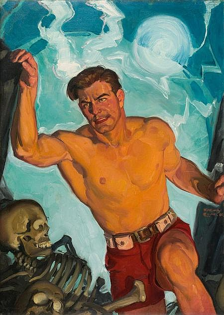 EMERY CLARKE (American, 1911-1990) The Living Fire