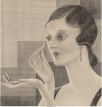 Ferdinand Walcher (American, 1895-1955) Vanity, 1928 Pencil on paper 11-1/2 x 11