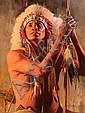 DAVID MANN (American, b.1948) Prairie Warrior Oil, David Mann, Click for value