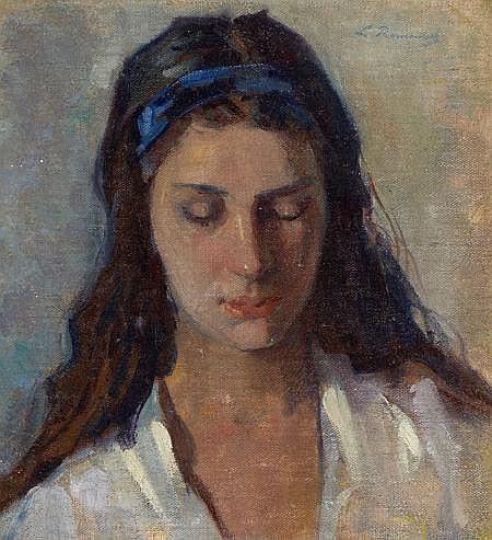 LEOPOLDO ROMANACH (Cuban, 1862-1951) Portrait of a Youn