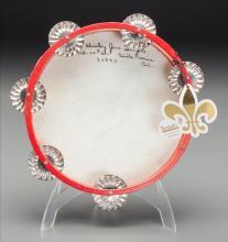 Shirley Temple's Childhood Tambourine, circa 1931 7-3/4