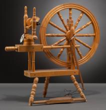 A Wooden Spinning Wheel from Shirley Temple's Childhood