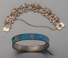 Two Bracelets from Shirley Temple's Childhood Maker unk