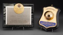 Shirley Temple - Pair of Award Plaques (1939/1964). 7 x