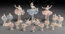 Shirley Temple Owned Set of Fourteen Vintage Porcelain