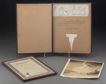 Shirley Temple Ballet Certificate and Scrapbook (1938).