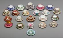 Twenty-Two Porcelain Vintage Miniature Dollhouse Cups a