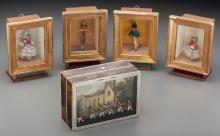 A Group of Five French and English Shadowboxes, late 19