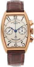 Franck Muller Gentleman's Chronograph Gold Watch  Case: 45 x 32 mm, tonneau-shap