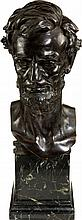 Abraham Lincoln: Exceptional Bronze Bust by Weinman.