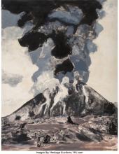 MICHELE ZALOPANY (AMERICAN, B. 1955) VOLCANO, 1988 WATERCOLOR ON PAPER 62 X 48 I
