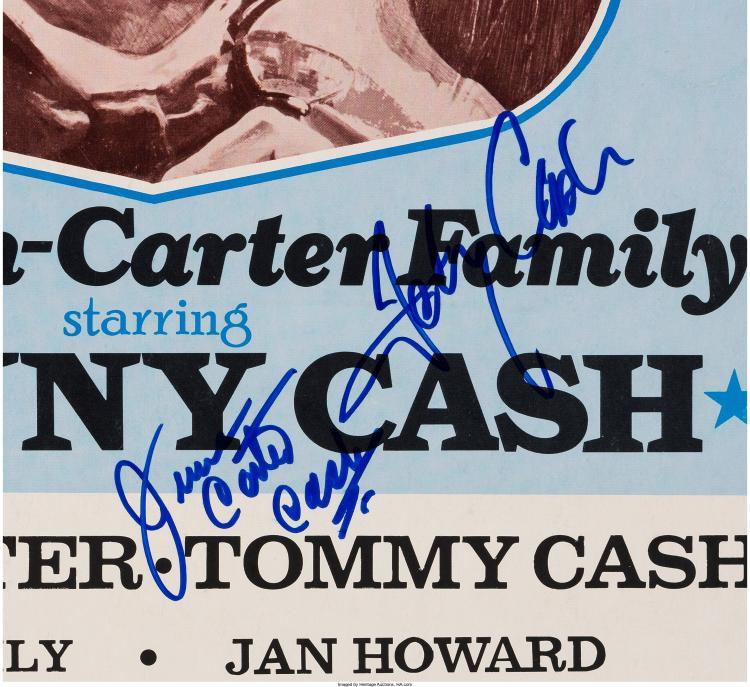 johnny cash and june carter cash signed sioux city municipal. Black Bedroom Furniture Sets. Home Design Ideas