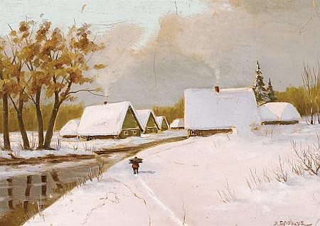 YAKOV IVANOVIC BROVAR (Russian, 1864-1941) Winter