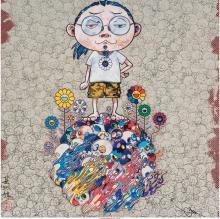 Takashi Murakami (b. 1962) Naked Me Contemplates Death (Memento Mori) and Flower