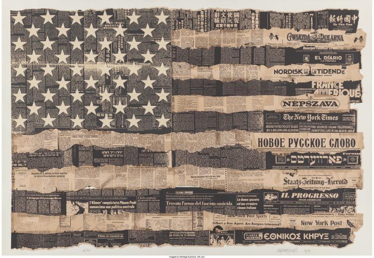 Massimo Vignelli (b. 1931) Melting Pot 1976 (The United States is the Melting Po