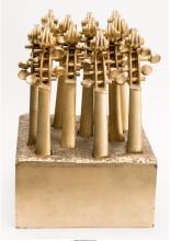 Arman (1928-2005) Violins, 1981 Cast and gilt aluminum 14-1/4 x 10 x 10-1/4 inch