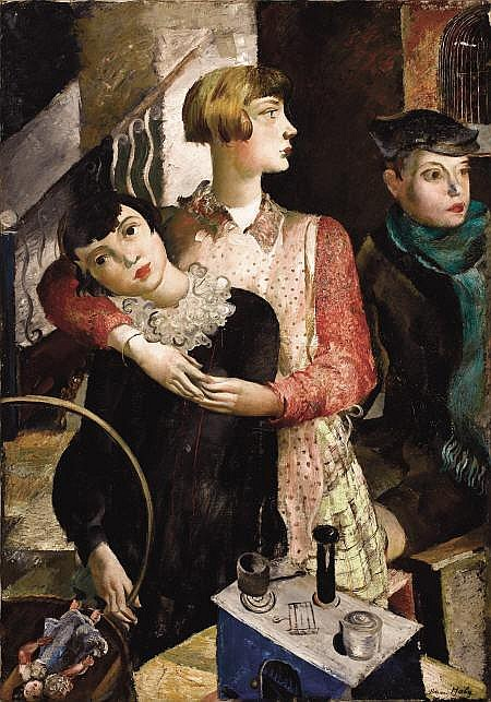 ADRIEN HOLY (Swiss, 1898-1978) Governess with Two
