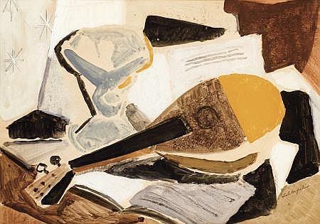 KARL SCHLAGETER (Swiss, 1894-1990) Still Life with