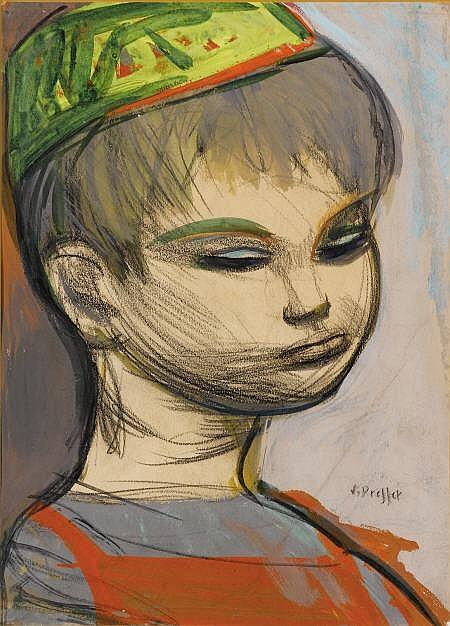 JOSEF PRESSER (American, 1907-1967) Portrait of a