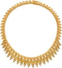 Diamond, Gold Necklace, Cartier, Paris  The necklace fe