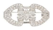Art Deco Diamond, Platinum Pendant-Brooch, Tiffany & Co
