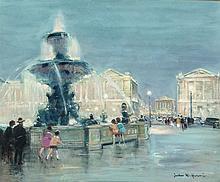 Jules René Hervé (French, 1887-1981) Place de la Concor
