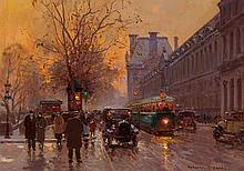 Edouard-Léon Cortès (French, 1882-1969) Quai du Louvre
