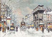 Antoine Blanchard (French, 1910-1988) Les Grands Boulev
