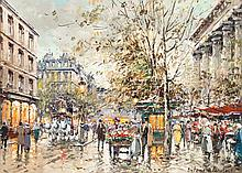 Antoine Blanchard (French, 1910-1988) Marché aux fleurs