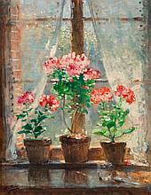 Pierre Eugène Montezin (French, 1874-1946) Geraniums Oi