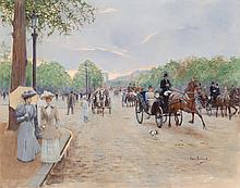 Jean Béraud (French, 1849-1935) Sur les Champs Élysées,
