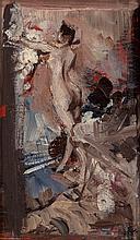 Giovanni Boldini (Italian, 1842-1931) Nudo femminile co