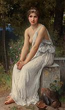 Charles Amable Lenoir (French, 1861-1903) Beauty in a g