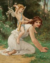 Guillaume Seignac (French, 1870-1924) Cupid and Venus O