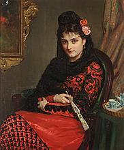 John Bagnold Burgess (British, 1830-1897) A Spanish ros