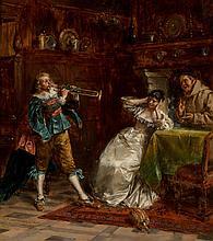 Albert Friedrich Schröder (German, 1854-1939) Music to