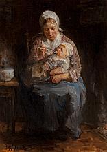 Jozef Israëls (Dutch, 1824-1911) Sollicitude maternelle