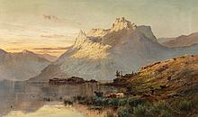 Alfred de Bréanski (British, 1852-1928) The peaks of th