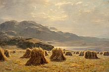 Duncan Cameron (British, 1841-1930) A Highland harvest
