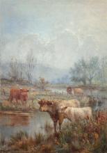 Louis Bosworth Hurt (British, 1881-1929) A misty mornin