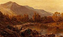 Alfred de Bréanski (British, 1852-1928) The Vale of Lla