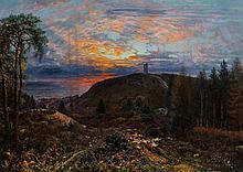 George William Mote (British, 1832-1909) Sheep and catt