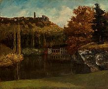 Gustave Courbet (French, 1819-1877) Le Lavoir (Vue et r