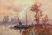Robert Antoine Pinchon (1886-1943) La Seine a L'île Lac