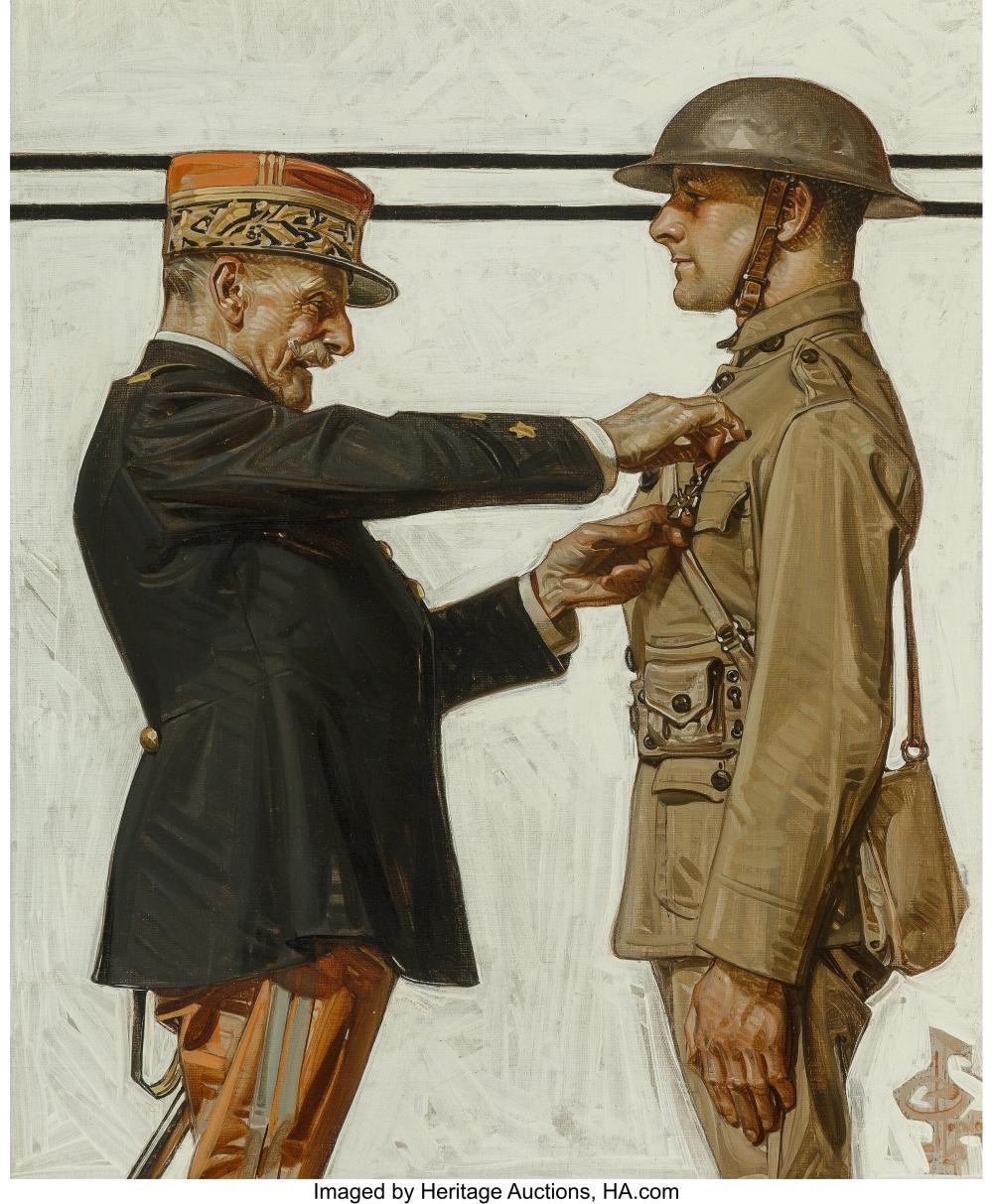 Joseph Christian Leyendecker (American, 1874-1951) Croix de Guerre, The Saturday
