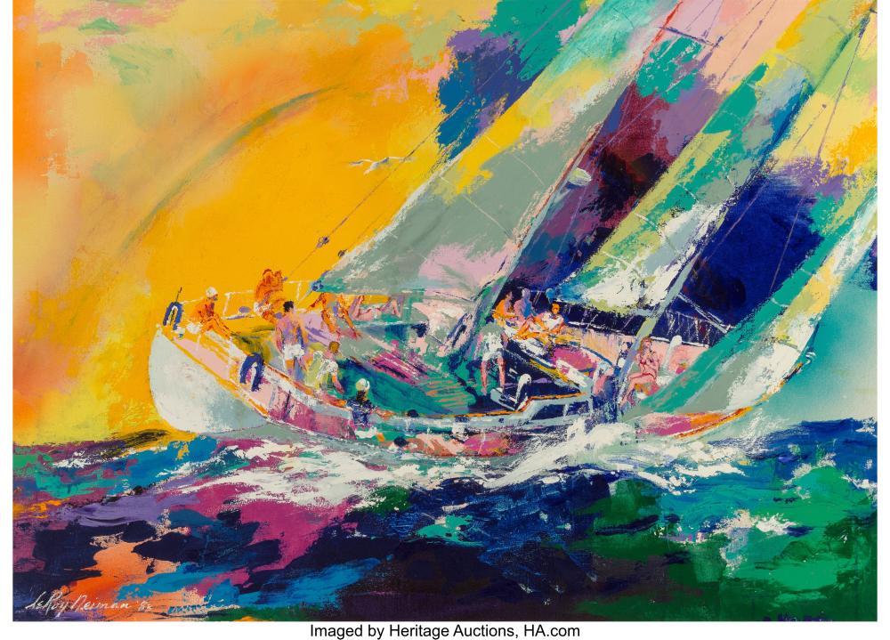 LeRoy Neiman (American, 1921-2012) Hawaiian Sailing, 1983 Oil on canvas 30 x 42
